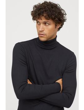 Ribbed Turtleneck Shirt by H&M