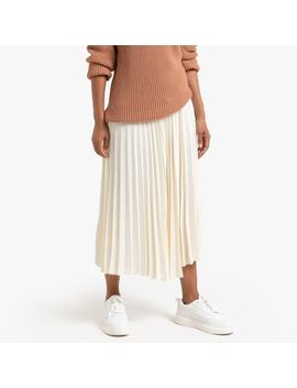Pleated Midi Skirt by La Redoute Collections