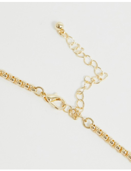 Asos Design Long Necklace With Hammered Open Circle Pendants In Gold by Asos Design