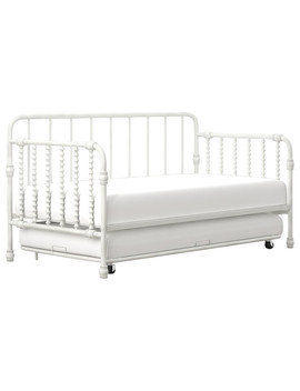 Little Seeds Monarch Hill Wren Metal Daybed With Trundle Twin, White by Little Seeds
