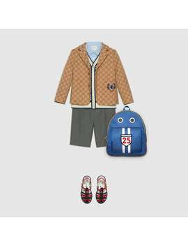 Children's Gg Canvas Jacket With Lyre by Gucci