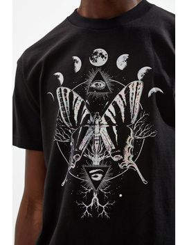 Butterfly Foil Moons Tee by Urban Outfitters