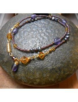 Small Plum Beaded Wrap Sea Glass Wrap   Boho Bead Bracelet  Beaded Wrap Bracelet  Bohemian Bracelet  Beaded Jewelry  Layer Bracelet, by Etsy