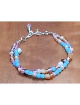 Gemstone Beach Party Bracelet  Sea Glass Jewelry  Pearl Jewelry Gemstone Bracelet  Beach Resort Style  by Etsy