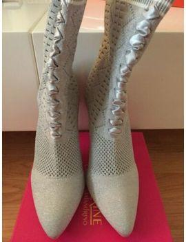 Catherine Catherine Malandrino Clima Silver Sock Boots Size 8 by Catherine Malandrino