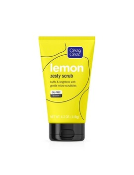 Clean & Clear Lemon Zesty Oil Free Face Scrub With Vitamin C   4.2oz by 4.2oz