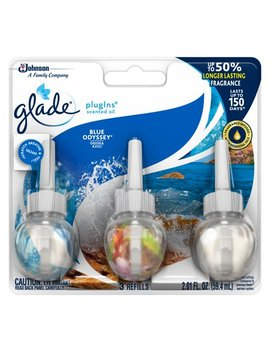 Glade Plug Ins Refill 3 Ct, Blue Odyssey, 2.01 Fl. Oz. Total, Scented Oil Air Freshener by Glade