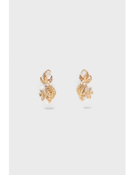 Faux Pearl Bejeweled Earrings New Inwoman by Zara