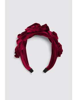 Velvet Floral Headband Jewelry Accessories Woman by Zara