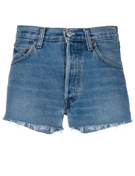 Fitted Denim Shorts by Re/Done