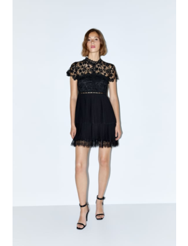 Combined Pleated Dress View All Dresses Woman by Zara