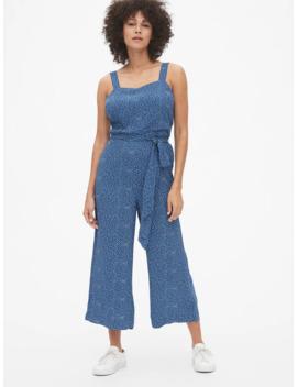 Print Apron Wide Leg Jumpsuit by Gap