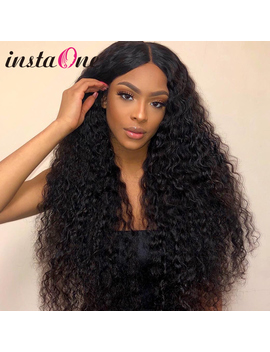 28 30 Inch Brazilian Curly Lace Front Human Hair Wigs Water Wave Frontal Wig Pre Plucked For Black Women Deep Wave Remy Hair by Ali Express.Com
