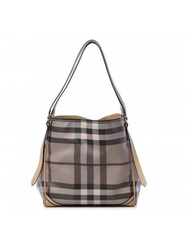 Burberry Smoked Check Small Canterbury Tote Trench by Burberry