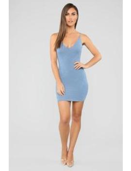 Simply Beautiful Dress Set   Denim by Fashion Nova