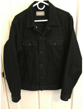 everlane-black-denim-jacket-mens-size-large by everlane
