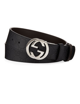 Men's Reversible Gg Belt by Gucci