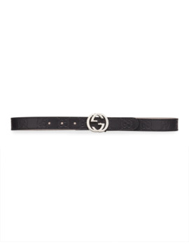 Kids' Signature Gucci Leather Belt by Gucci