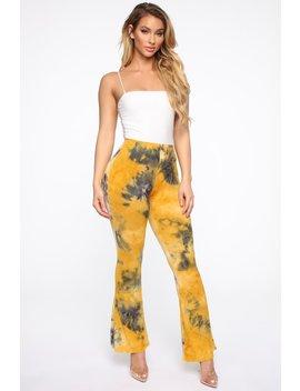 Holly High Rise Printed Pants   Mustard/Multi by Fashion Nova