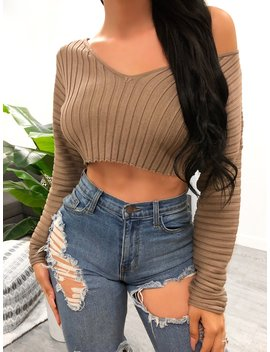 Zuleyma Top (Taupe) by Laura's Boutique