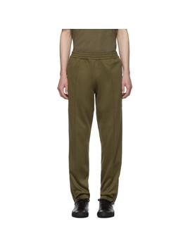 Khaki Stripe Track Pants by Helmut Lang