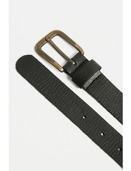Uo Classic Leather Boyfriend Belt by Urban Outfitters