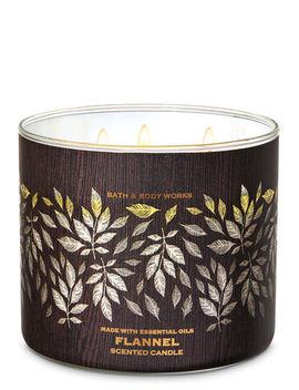 Flannel\N\N\N3 Wick Candle    by Bath & Body Works