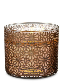 Bourbon Maple\N\N\N3 Wick Candle    by Bath & Body Works