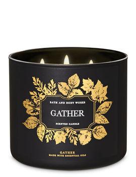 Gather\N\N\N3 Wick Candle    by Bath & Body Works