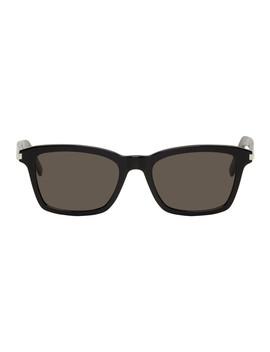 Black Sl 283 Slim Sunglasses by Saint Laurent