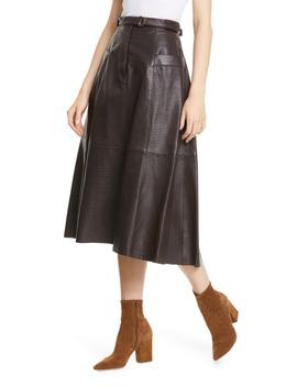 Lila Leather Skirt by Nili Lotan
