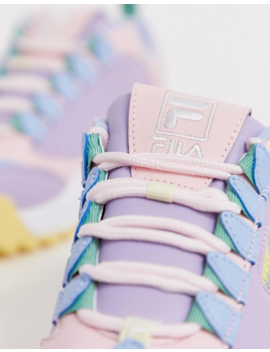 Fila Pink Lilac And Yellow Disruptor 3 Zip Sneakers by Fila