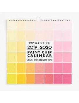 2019 2020 Paint Chip Calendar by Paper Source