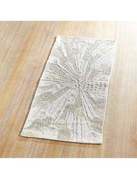 """Beaded White Peacock 35"""" Table Runner by Pier1 Imports"""