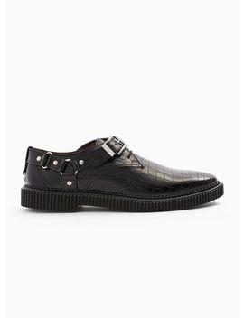 House Of Hounds Black Leather Cooper Harness Shoe by Topman