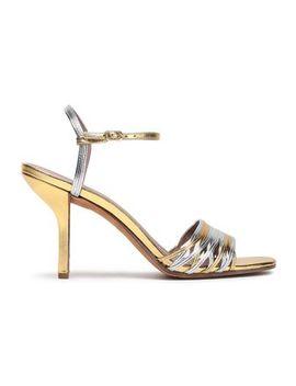 Federica Two Tone Metallic Leather Sandals by Diane Von Furstenberg