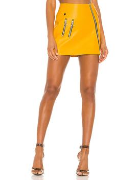 Jawbreaker Mini Skirt In Saffron by For Love & Lemons