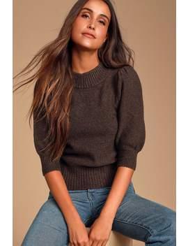Sugar Pie Brown Mock Neck Sweater by Free People