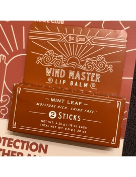 Wind Master Lip Balm Mint   2 Sticks New   Nwt by Dollar Shave Club