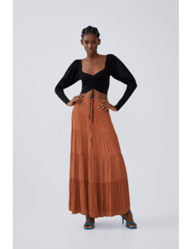 Long Flowing Skirt Midi Skirts Trf by Zara