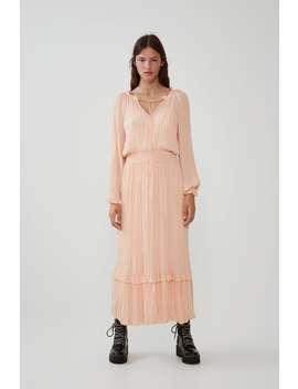 Pleated Voluminous Dress Maxi Dresses Woman by Zara