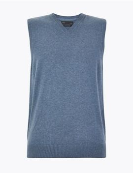 Cotton Sleeveless Jumper by Marks & Spencer