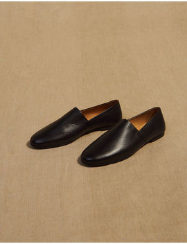 Grained Leather Slippers by Sandro Eshop