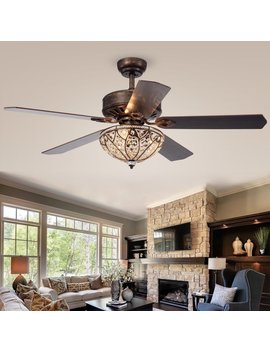 """52"""" Colinton 5 Blade Ceiling Fan With Remote by House Of Hampton"""