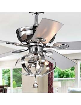 Tatiana 52 Inch Ceiling Fan With 3 Light Royal Chandelier Optional Remote Control (Incl 2 Blade Color Options) by Warehouse Of Tiffany