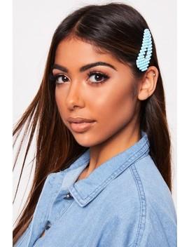 Stacie Blue Neon Hair Clip by Misspap