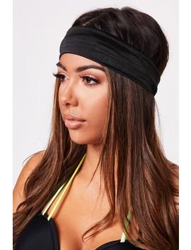 Lottie Black Elasticated Headband by Misspap