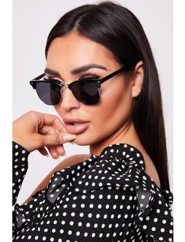 Payton Black Lens Retro Sunglasses by Misspap