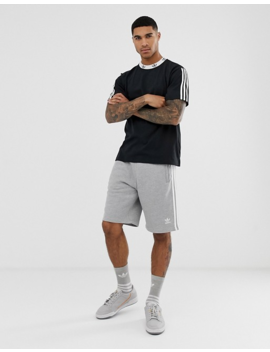 Adidas Originals T Shirt With Trefoil Neck Print In Black by Adidas Originals