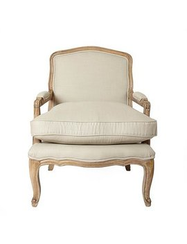 Sofia Linen Chair   Natural by Dunelm